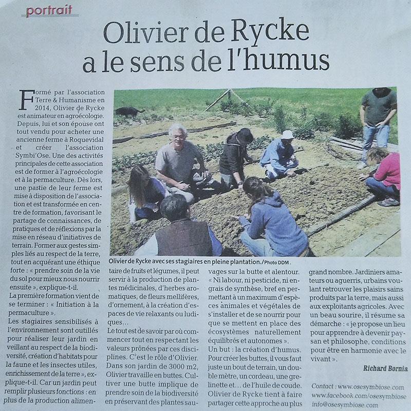 Olivier a le sens de l'humus